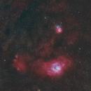 Nébuleuses Trifides et Lagune M8 - M20,                                Frédéric Girard
