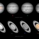 Jupiter and Saturn,                                Ecleido Azevedo
