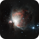 The Orion nebula (M42),                                tringuede