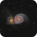 Messier 51 The Whirpool Galaxy deep image with pooled data project,                                Barry Wilson