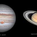 Jupiter and Saturn 2019- Happy 2020,                                Ecleido Azevedo