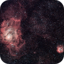 M8 & M20 - The Lagoon and Trifid Nebulae (Ha-RGB),                                Olivier Ravayrol