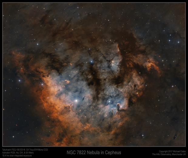 NGC 7822 Nebula in Cepheus,                                Mike Oates