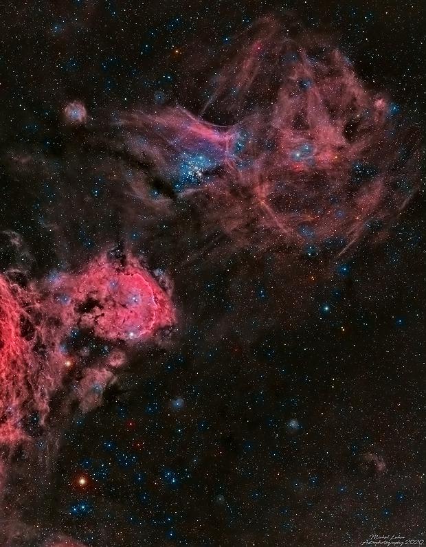 Gem on Little Jewelbox NGC3293 - NGC3324,                                Michel Lakos M.