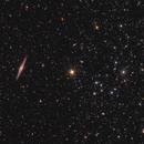 NGC 891 and Abell 347 mosaic,                                Nurinniska