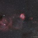 Comet 38P-Stephan-Oterma and Rosette Nebula in a wide field,                                Jocelyn Podmilsak
