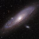 Andromeda Galaxy in HaOIII-LRGB,                                Jim Lindelien