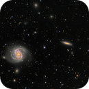 M100 and surrounding galaxies,                                vi100