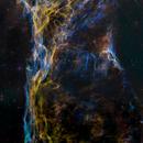 Veil Nebula - Pickering's Triangle in HST palette,                                John Ebersole