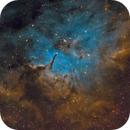 NGC 6820 and NGC 6823 in the Hubble Palette,                                Chuck's Astrophot...
