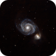 M51 with full moon and city light pollution (without all this, it ain't funny !),                                Elboubou