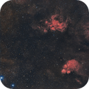 Cat's Paw and War and Peace Nebula - Halpha-RGB,                                Rodrigo Andolfato