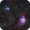 "Trifid and Lagoon Nebula ""Snapshot"",                                404timc"
