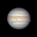 Jupiter, Europa and Ganymede,                                stricnine