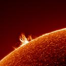 Sun Prominence 12.10.19 (Switzerland),                                Luk