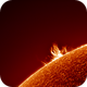 Sun Prominence 12.10.19 (Switzerland),                                Luk