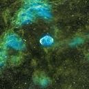 Crescent Nebula - SHO version,                                Mike Brady