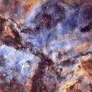 NGC 3372  Carina Nebula in narrowbands Cropped,                                David Nguyen