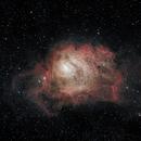 Late season Lagoon  Nebula,                                starfield