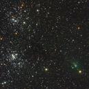 Comet C/2017 T2 PANSTARRS passing through the Double Cluster,                                Michael J. Mangieri
