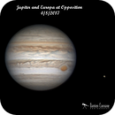 Jupiter and Europa at Opposition,                                Damien Cannane