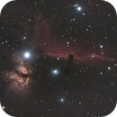 Horsehead and Flame, first time in dark skies,                                Norman Revere