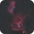 Heart & Soul nebulae - IC1805 & IC1848, DSLR 135mm HaRGB,                                Euripides