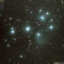M45 (Mel22, Cr42, OCL421, Pleiades, Seven Sisters, 2016.09.26, 21x120..301s=1h41min20s, convert2),                                Carpe Noctem Astronomical Observations