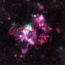 N 44 a Large Magellanic Cloud Super Bubble (HOrgb – TrueColor),                                Alex Woronow