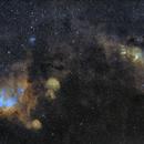 Running Chicken and The Statue of Liberty Nebulae - Hubble Palette,                                Rodrigo Andolfato