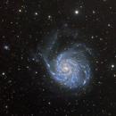 M101 Pinwheel Galaxy Test Shot,                                jeffweiss9