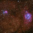 M20 and M8 Widefield,                                dkamen