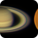 Mosaic: Mars and Saturn near opposition,                                geordan