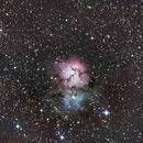 Trifide - La nébuleuse du trèfle - M20,                                Nickzo