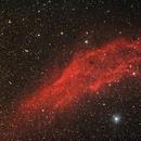 Ngc 1499 California con asteroide Eunomia,                                Carlo Rocchi