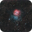 Only 11 seconds subs at F/7 Trifid ( STC multispectra filter )/ 50 % CROP.,                                Luis Marco Gutierrez