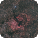 NGC7000- North america and pelican nebula Widefield,                                Daniel Pázmán