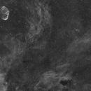 Crescent nebula and stellar winds in Ha (WIP),                                keithlt