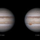 Jupiter 2020-04-03: Stereo pair time separation comparison,                                Darren (DMach)