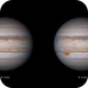 Jupiter 2020-04-03: Stereo pair time separation comparison,                                Darren (DMach)