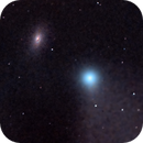 """Comet C/2020 F3 Neowise and M64 (""""Black Eye"""" Galaxy),                                morrienz"""
