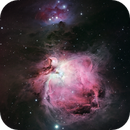 The Great Orion Nebula (M42), De Mairan's (M43) and The Running Man (SH2-279),                                Andy Elliott