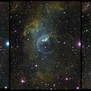 Bubble Nebula. Aug-2014 color pictures.,                                Niels V. Christensen