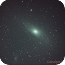 First try on Andromeda Galaxy using UHC-E filter, at 5:30AM and only 14º high in the sky.,                                Samuel Müller