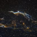 Western Veil Nebula, NGC 6960,                                Loran Hughes