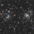 NGC 869 and 884 in Perseus,                                Nurinniska