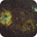 IC1396 and SH2-132 - SHO Hubble Palette,                                Andreas Dietz