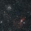 M52 and Bubble Nebula,                                Charles Ward