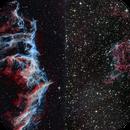 NGC6992 RGB vs Narrowband,                                Seymore Stars