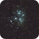 M45, wide angle (300mm) trial under cloudy conditions,                                Cyril NOGER